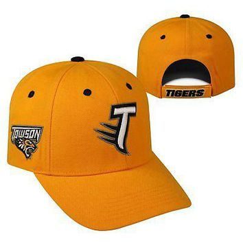 Licensed Towson State Tigers NCAA Adjustable Triple Threat Hat Cap Top of the World KO_19_1