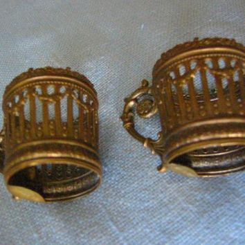 Bronze Miniature Cup Holders Made in France