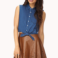 FOREVER 21 Perforated A-Line Skirt