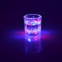 Induction emitting colorful lights glass