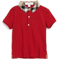 Infant Boy's Burberry 'William' Cotton Polo,
