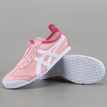 Trendsetter Onitsuka Tiger  Mexico 66 Slip-On  Women Men Fashion Casual Low Heeled Shoes