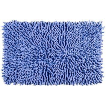 Construction Bath Rug | Blue
