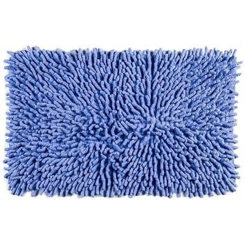 Cotton Chenille Bath Rugs |  Blue
