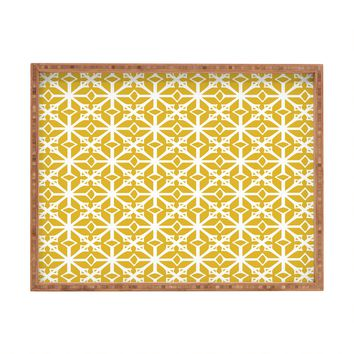 Heather Dutton Diamante Gold Rectangular Tray