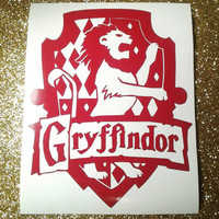 "Gryffindor Decal 5"" inch Gryffindor House Crest - 20 color choices! Hogwarts Sticker Harry Potter inspired Gryffindor laptop sticker"