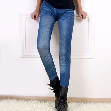 2015 hot selling women's legging blue and black jean girls jeggings with 2 real pockets FREE SHIPPING L033522