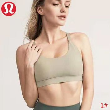 Lululemon New fashion solid color sports leisure top bra women 1#