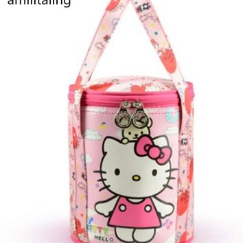 New Hello kitty Girls Waterproof Round Bag storage Bag make-up bag yey-688