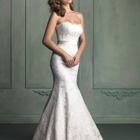 Allure Bridals 9117 Lace Fit & Flare Wedding Dress