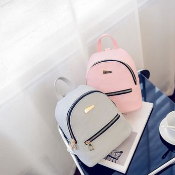Vintage Retro Women Casual Daypacks Soft Leather Backpack College High School Bag For Teenager Cover Drawstring Bag Mochila 2017