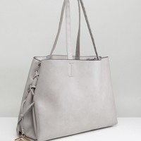 New Look Lace Up Tote Bag at asos.com