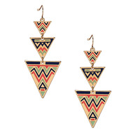 Three Triangle Swing Earrings