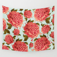 A Splash of Peony, A Dash of Color Wall Tapestry by Kristy Patterson Design