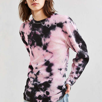 Hanes X US Rags Crystal Dye Thermal Long Sleeve Tee - Urban Outfitters