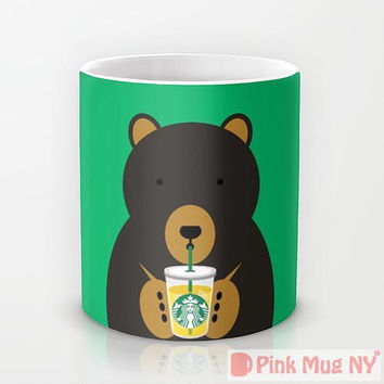 Personalized mug cup designed PinkMugNY - I love Starbucks