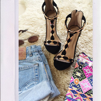 Bora Bora Wedges- Black