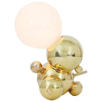 Bubbly 01-Light Table, Modern Molecule Sculptural Table Lamp, Polished Brass