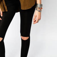 Boohoo Busted Knee Leggings