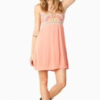 INDIO TANK DRESS IN CORAL