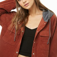 Hooded Corduroy Jacket