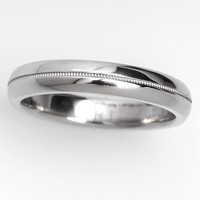 4MM Wide Men's Wedding Band Ring Platinum SIze 9