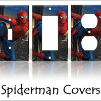 Spiderman Light Switch Covers Wallplates by KeepCalmandTurnItOn