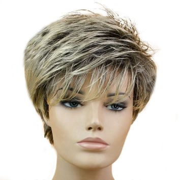 Wig Short Pixie Cut Style Wigs For Black Women Synthetic Hair High Temperature Fiber