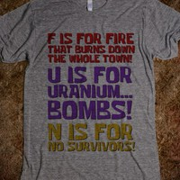 Plankton's F.U.N. Song-Unisex Athletic Grey T-Shirt