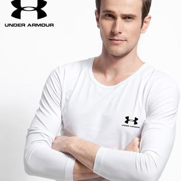 New Under Armour Mens Long Sleeve Hoodie 100% COTTON TOP
