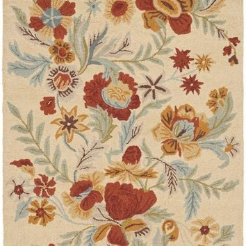 Blossom Country & Floral Indoor Area Rug Beige / Multi