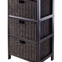 Attractive Omaha Storage Rack with 3 Foldable Baskets