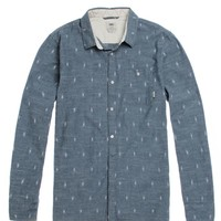 Vans Lacerta Long Sleeve Woven Shirt - Mens Shirts - Blue