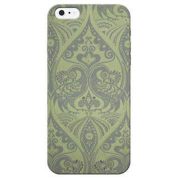 Green Peacock Print Phone Case