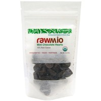 Rawmio, Mint Chocolate Hearts, 2 oz (57 g)