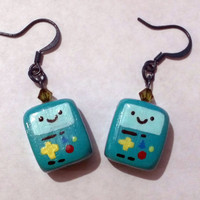 Made to Order Adventure Time BMO/Beemo Earrings