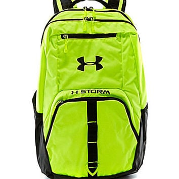 black and green under armour backpack