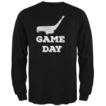 Game Day Hockey Black Adult Long Sleeve T-Shirt