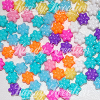 100 Bright Flower Pony Beads for Kandi Kandy rave raver Kids EDC Craft bracelets necklaces hair bird toys scouts Daisy Electric