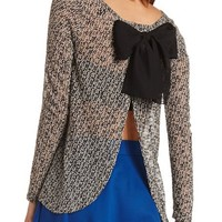 OPEN BOW BACK HACCI PULLOVER