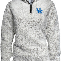 Kentucky Wildcats Womens White Sherpa 1/4 Zip Pullover - 16930855