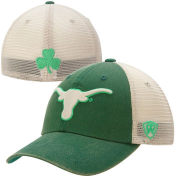 Texas Longhorns Top of the World Vintage Luck 1Fit Hat - Green
