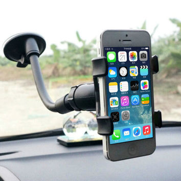 Universal 360 Rotation Lazy Non-slip Windshield Car Mount Holder Bracket for GPS Mobile Phone