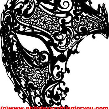 filigree phantom mask masquerade clipart png mardi gras Digital Download printable art large Image graphics digital stamp