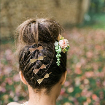 Sweet Hollow Lace Bowknot Hairpin