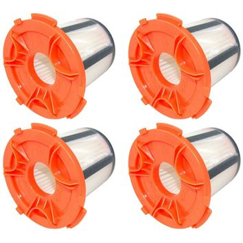 4 Pack Felji H12 DCF-24 Vacuum Dust Cup Filters for Eureka 955A Compact Canister Vacuum Cleaner Part # 68950
