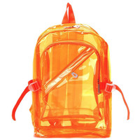 CLEAR JELLYBEAN BACKPACK ORANGE – tibbs & BONES