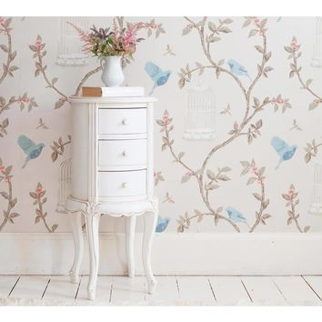 Provencal Round White Bedside Table | Bedside Table