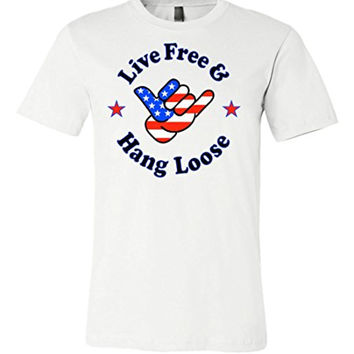 Live Free and Hang Loose Flag T-shirts | USA Tee