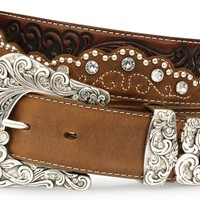 Tony Lama Kaitlyn Crystal Leather Western Belt - Sheplers